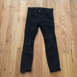 H&M black ripped skinny jeans